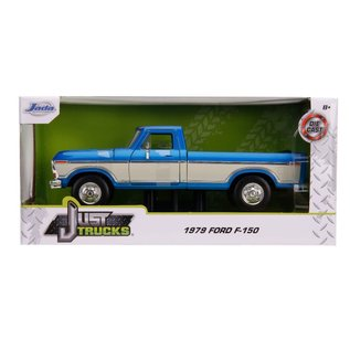 """JADA TOYS JAD 31587 Jada 1/24 """"Just Trucks"""" 1979 Ford F-150 Pickup Stock - Metallic Blue"""