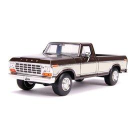 """JADA TOYS JAD 31588 Jada 1/24 """"Just Trucks"""" 1979 Ford F-150 Pickup Stock - Metallic Brown"""