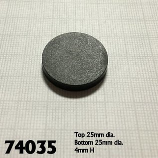 REAPER REA 74035 1 INCH BASES BLACK 20 PACK