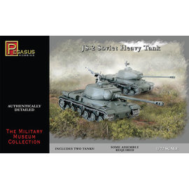 PGH PGH 7669 JS2 SOVIET TANK 1/72 MODEL KIT (2 TANKS)