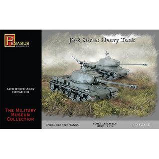 PGH PGH 7669 JS2 SOVIET TANK 1/72 MODEL KIT (2 TANKS)