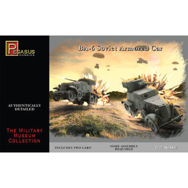 PGH PGH 7672 BA6 ARMORED CAR 1/72 MODEL KIT (2 CARS)