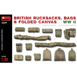 MINIART MNA 35599 WW2 BRITISH RUCKSACKS AND FOLDED CANVAS WW2 MODEL KIT
