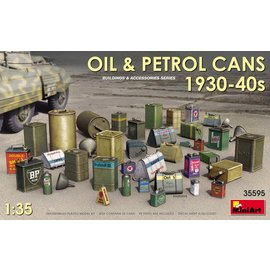 MINIART MNA 35595 OIL AND PETROL CANS 1930-40S MODEL KIT