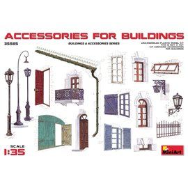 MINIART MNA 35585 DIORAMA ACCESORIES FOR BUILDINGS 1/35