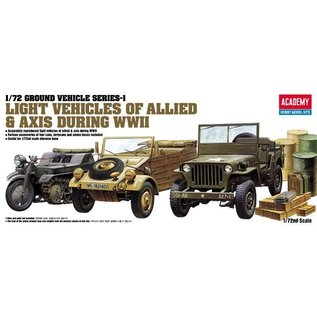 Academy/Model Rectifier Corp. ACA 13416 LIGHT ALLIED/AXIS VEHICLES 1/72 MODEL KIT