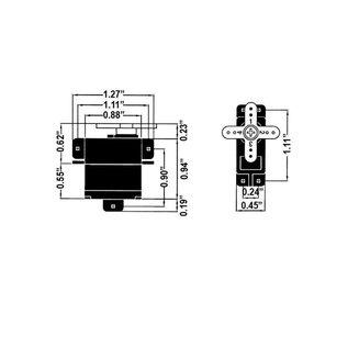 Hitec RCD HRC 33056S HS56HB FEATHER KARBONITE GEAR SERVO