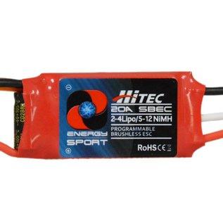 Hitec RCD HRC 59046 ENERGY SPORT 20 AMP - 2-4S LIPO / 5-12NIMH, 5V / 2A BEC,