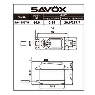 Savox SAV SA1256TG Standard Size Coreless Digital Servo .15/277 @ 6V
