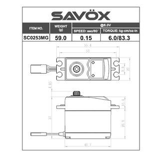 Savox SAV SC0253MG SERVO .15/83.3