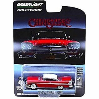 GREENLIGHT COLLECTABLES GLC 44830C HOLLYWOOD SERIES 23 1/64 CHRISTINE 1958 PLYMOUTH FURY