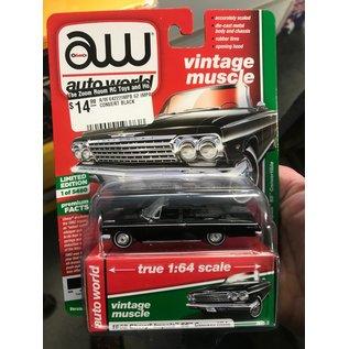 AUTOWORLD A/W 64222IMPB 1962 IMPALA SS CONVERTIBLE BLACK 1/64