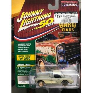 JOHNNY LIGHTNING JLC M020VTTE 1957 CORVETTE BARN FIND 1/64 DIECAST