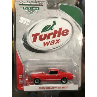 GREENLIGHT COLLECTABLES GLC 30072 GT350 1965 SHELBY GT350 1/64 DIECAST TURTLE WAX EDITION