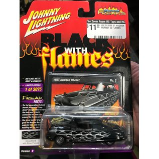 JOHNNY LIGHTNING JLC SF2766 1951 HUDSON HORNET W FLAMES 1/64