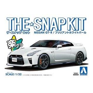 AOSHIMA AOS 56394 THE SNAP KIT Nissan GT-R WHITE 1/32