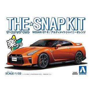 AOSHIMA AOS 56387 THE SNAP KIT Nissan GT-R ORANGE