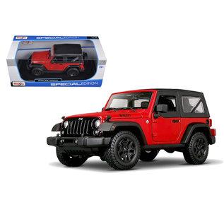 MAISTO MAI 31676 2014 Jeep Wrangler WILLY 1/18 DIECAST RED