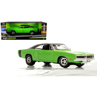 MAISTO MAI 32612GRN 1969 CHARGER R/T LIME GREEN 1/18