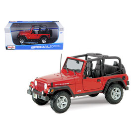 MAISTO MAI 31663RD Jeep Wrangler RUBICON NO TOP 1/18 DIECAST RED