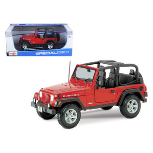 MAISTO MAI 31663RD Jeep Wrangler RUBICON NO TOP 1/18 DIECAST RED