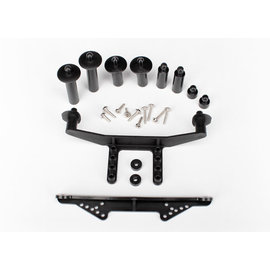 TRAXXAS TRA 1914R Body mount, front & rear (black)/ body posts, 52mm (2), 38mm (2), 25mm (2), 6.5mm (2)/ body post extensions (4)/ hardware
