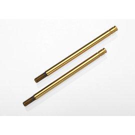 TRAXXAS TRA 1664T Shock shafts, hardened steel, titanium nitride coated (long) (2)