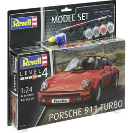 REVELL GERMANY REV 67179 PORSCHE 911 TURBO COMPLETE SET 1/24