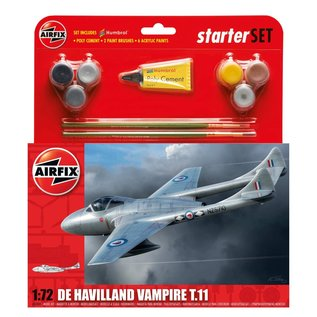 AIRFIX AIR 55204 DE HAVILLAND VAMPIRE T.11 STARTER SET