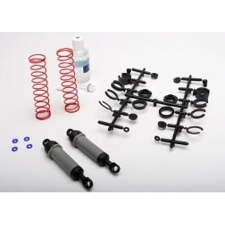 TRAXXAS TRA 3762A Ultra Shocks (grey) (xx-long) (complete w/ spring pre-load spacers & springs) (rear) (2)