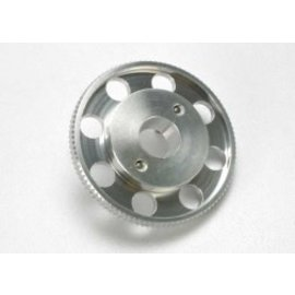TRAXXAS TRA 4142X Flywheel, (larger, knurled for use with starter boxes) (TRX® 2.5 and TRX® 2.5R) (silver anodized)
