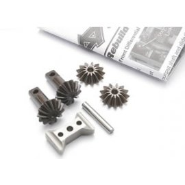 TRAXXAS TRA 5382X Gear set, differential (output gears (2)/ spider gears (2)/ spider gear shaft/ diff carrier support) SUMMIT TMAXX REVO