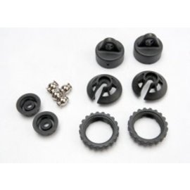 TRAXXAS TRA 5465  Caps and spring retainers, GTR shock (upper cap (2)/ hollow balls (2)/ bottom cap (2)/ upper retainer (2)/ lower retainer (2)) REVO SUMMIT JATO E-REVO
