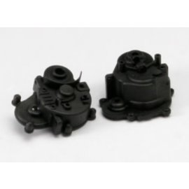 TRAXXAS TRA 5391R Gearbox halves (front & rear)/ rubber access plug/ shift detent ball/ spring/ 4mm GS/ shift shaft seal, glued REVO SLAYER