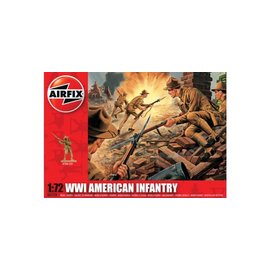 AIRFIX AIR 1729 WWI US INFANRTY 1/72 MODEL KIT 48 FIGURES