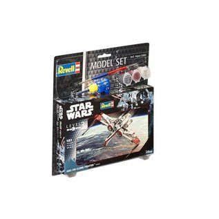 REVELL GERMANY REV 63608 Star Wars ARC170 CLONE FIGHTER COMPLETE MODEL SET 1/83