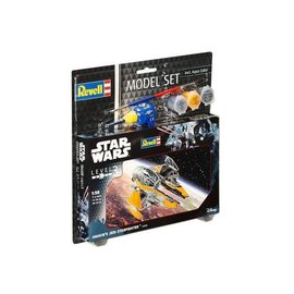 REVELL GERMANY REV 63606 ANAKINS JEDI STARFIGHTER 1/58 COMPLETE MODEL SET