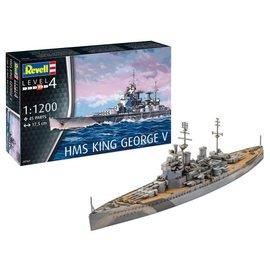 REVELL GERMANY REV 65161 HMS KING GEORGE V COMPLETE MODEL SET 1/1200