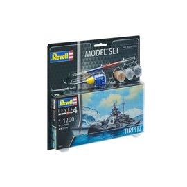REVELL GERMANY REV 65822 1/1200 TIRPITZ COMPLETE MODEL SET