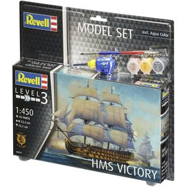 REVELL GERMANY REV 65819 1/450 HMS VICTORY COMPLETE MODEL SET