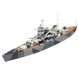REVELL GERMANY REV 65136 1/1200 Battleship Scharnhorst COMPLETE MODEL SET