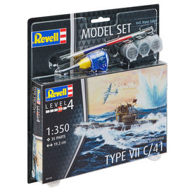 REVELL GERMANY REV 65154 GERMAN SUB TYPE VII C/41 COMPLETE MODEL SET