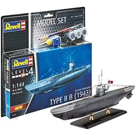 REVELL GERMANY REV 65155 GERMAN SUB TYPE II B 1/144 MODEL SET