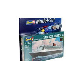 REVELL GERMANY REV 65808 QUEEN MARY 1/1200 COMPLETE MODEL SET