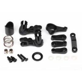 TRAXXAS TRA 6845X Steering bellcranks/ servo saver/ servo saver spring/ servo spring retainer/servo horn, steering  SLASH STAMPEDE RUSTLER 4X4