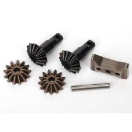 TRAXXAS TRA 6882X Gear set, differential (output gears (2)/ spider gears (2)/ spider gear shaft, carrier support)  SLASH RUSTLER STAMPEDE 4X4