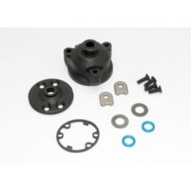 TRAXXAS TRA 6884 Housing, center differential/ x-ring gaskets (2)/ ring gear gasket/ bushings (2)/ 5x10x0.5 TW (2)/ CCS 2.5x8 (4) SLASH STAMPEDE RUSTLER 4X4 WITH CENTER DIFFERENTIAL ONLY