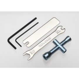 TRAXXAS TRA 2748X Tool Set (1.5mm &2.5mm allens/ TRA 2748X 4-way lug, 8mm &4mm wrench & U-joint wrenches)