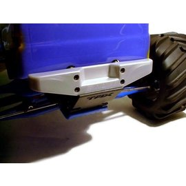 RPM RC PRODUCTS RPM 80096 REAR STEP BUMPER T/E MAXX METALLIC SILVER