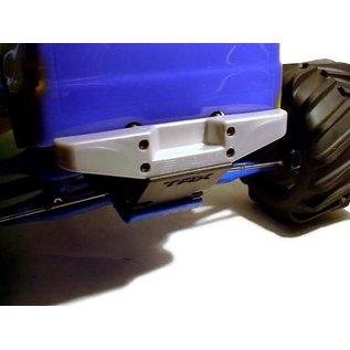 RPM RC PRODUCTS RPM 80096 REAR STEP BUMPER T/E MAXX METALLIC SILVER